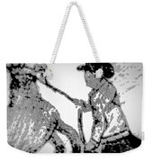 Abstract Cowboy And Horse Weekender Tote Bag