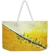 Abstract Crack Line On The Orange Rock Weekender Tote Bag