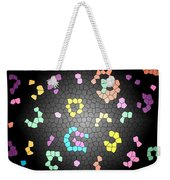 Abstract Creation With Small Shapes Colourful Weekender Tote Bag