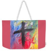 Abstract Cross Weekender Tote Bag