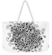 Abstract Curly Design In Black And White Weekender Tote Bag