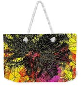 Abstract Dandelion Stained Glass Weekender Tote Bag