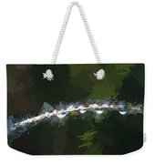 Abstract Dew On Reed Weekender Tote Bag