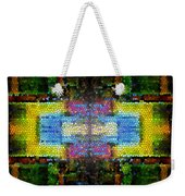 Abstract Digital Shapes Colourful Stained Glass Texture Weekender Tote Bag