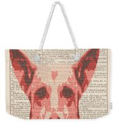 Abstract Dog On Dictionary Weekender Tote Bag