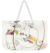 Abstract Drawing Fifty-four Weekender Tote Bag
