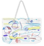 Abstract Drawing Sixty-three Weekender Tote Bag