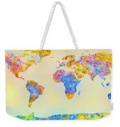 Abstract Earth Map 2 Weekender Tote Bag by Bob Orsillo