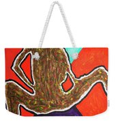 Abstract Ebony Nude Sitting Weekender Tote Bag