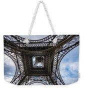 Abstract Eiffel Tower Looking Up Weekender Tote Bag