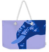 Abstract Elephant Doll Blue Weekender Tote Bag