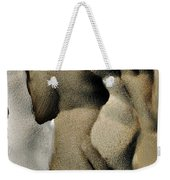 Abstract Female Figure In Grey  Weekender Tote Bag