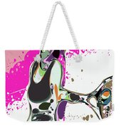 Abstract Female Tennis Player Weekender Tote Bag