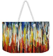 Abstract Fire And Ice Weekender Tote Bag