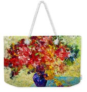 Abstract Floral 1 Weekender Tote Bag