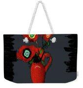 Abstract Floral Art 91 Weekender Tote Bag