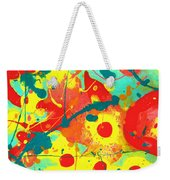 Abstract Floral Fantasy Panel A Weekender Tote Bag