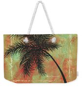 Abstract Floral Fauna Palm Tree Leaf Tropical Palm Splash Abstract Art By Megan Duncanson  Weekender Tote Bag