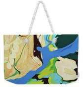 Abstract Flow Green-blue Series No.2 Weekender Tote Bag