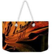 Abstract Flower Golden Red Weekender Tote Bag