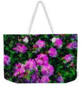 Abstract Flowers Weekender Tote Bag