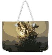 Abstract Foggy Sunrise Weekender Tote Bag
