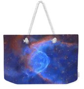 Abstract Galactic Nebula With Cosmic Cloud 10 Xl Weekender Tote Bag by Celestial Images
