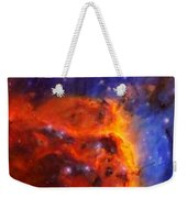 Abstract Galactic Nebula With Cosmic Cloud 5 Weekender Tote Bag by Celestial Images