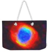 Abstract Galactic Nebula With Cosmic Cloud 9 Weekender Tote Bag by Celestial Images