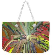 Abstract Garden Wrapped Weekender Tote Bag