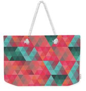 Abstract Geometric Colorful Endless Triangles Abstract Art Weekender Tote Bag