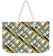 Abstract Gold Lines Weekender Tote Bag
