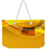 Abstract Golden Arcs And Lines Weekender Tote Bag