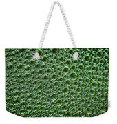 Abstract Green Alien Bubble Skin Weekender Tote Bag