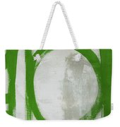 Abstract Green Circle 2- Art By Linda Woods Weekender Tote Bag