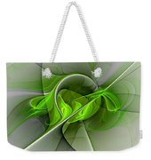 Abstract Green Fractal Art Weekender Tote Bag