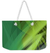 Abstract Green Vector Background Banner, Transparent Wave Lines  Weekender Tote Bag