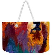 Abstract Grizz Weekender Tote Bag