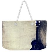 Abstract Guitar In The Foreground Close Up On Watercolor Painting Background. Weekender Tote Bag