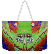 Abstract Holistic Vallely Graphic Painting Inspiration From Sargada Temple  Lights N Shades Sagrada  Weekender Tote Bag