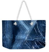 Abstract Ice. Darkness Weekender Tote Bag
