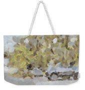 Abstract Image Of Car Passing Through A Dust Storm Weekender Tote Bag