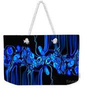 Abstract In Blue 3 Weekender Tote Bag
