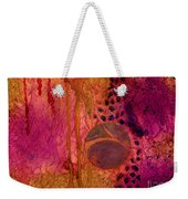 Abstract In Gold And Plum Weekender Tote Bag