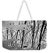 Abstract In Ice Weekender Tote Bag