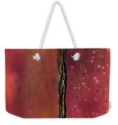 Abstract In Rose And Copper Weekender Tote Bag