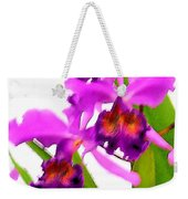 Abstract Iris Weekender Tote Bag