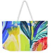 Abstract Jungle And Wild Flowers Weekender Tote Bag