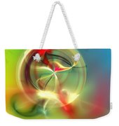 Abstract Karma Wheel Weekender Tote Bag