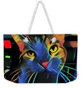 Abstract Kitty Weekender Tote Bag